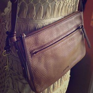 Handbags - Fossil Leather Crossbody Bag